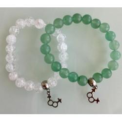 Deux Bracelets - Cristal + Aventurine