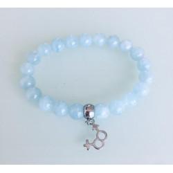 Bracelet Femme - Pierre Aigue Marine